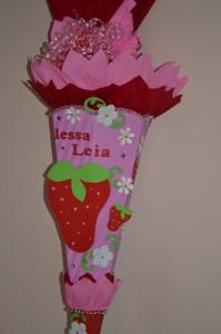 Schultüten erdbeere
