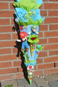 selbstgebastelte Super Mario Schultüte 6