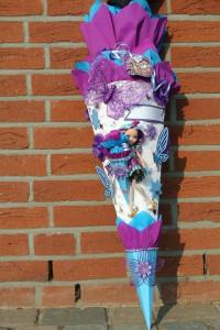 gebastelte Mädchenschultüte 111