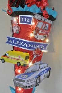gebastelte Feuerwehr Schultüte