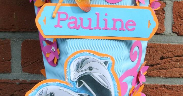 gebastelte Delfin1 Schultüte