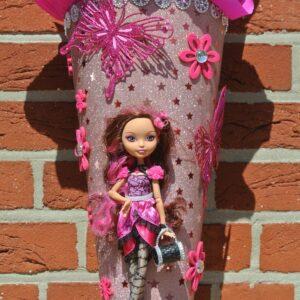 Mädchenschultüte mit Puppe 1