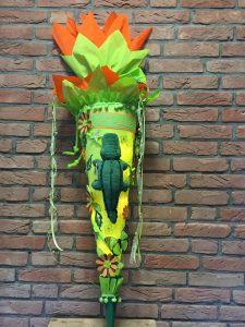 Lichtertüte Schultüte mit Krokodil 2019